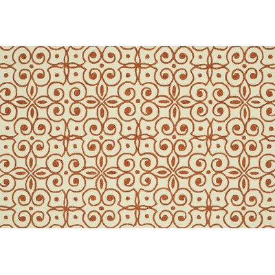 Ventura Hand-Hooked Beige/Brown Indoor/Outdoor Area Rug Rug Size: 36 x 56