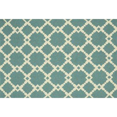 Ventura Turquoise/Ivory Indoor/Outdoor Area Rug Rug Size: 5 x 76