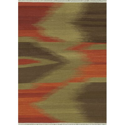 Santana Hand-Woven Red/Brown Area Rug Rug Size: 76 x 96