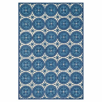 Durgin Hand-Tufted Blue/Ivory Area Rug Rug Size: Rectangle 36 x 56