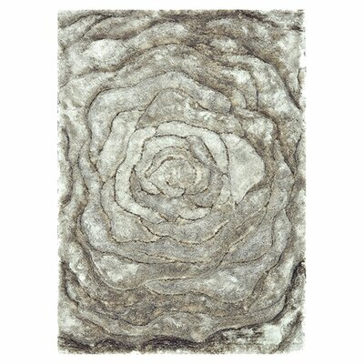 Kos Hand-Tufted Gray Area Rug Rug Size: Rectangle 36 x 56