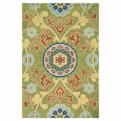 Taylor Hand-Tufted Green Area Rug Rug Size: 36 x 56
