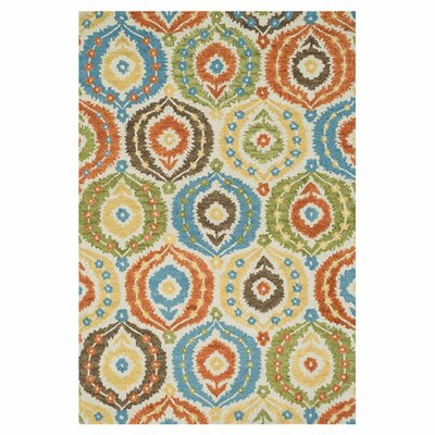Taylor Hand-Tufted Blue/Green Area Rug Rug Size: 36 x 56