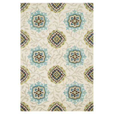 Durgin Hand-Tufted Beige Area Rug Rug Size: Rectangle 36 x 56