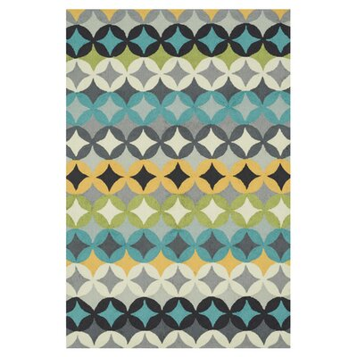Summerton Hand-Hooked Blue/Gray Area Rug Rug Size: Slice 23 x 39