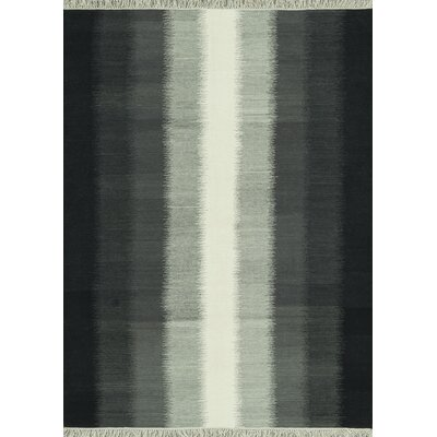 Santana Hand-Woven Charcoal Area Rug Rug Size: 5 x 76