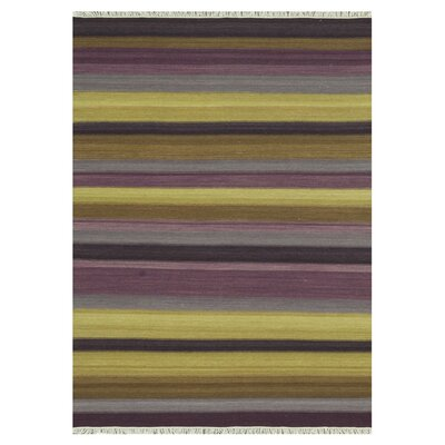 Santana Hand-Woven Yellow/Brown Area Rug Rug Size: 5 x 76
