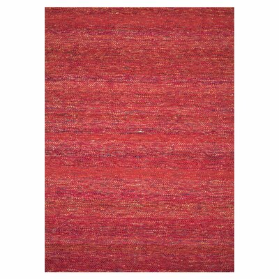 Luna Hand-Woven Red Area Rug Rug Size: 93 x 13
