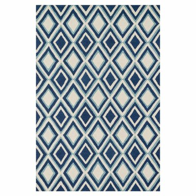 Weston Hand-Tufted Blue/Beige Area Rug Rug Size: 79 x 99