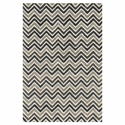 Maziarz Hand-Tufted Gray Area Rug Rug Size: Rectangle 36 x 56