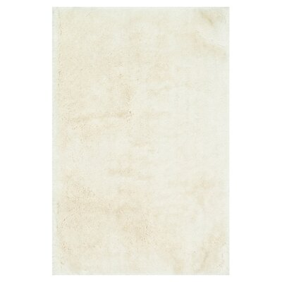 Allure Shag Hand-Tufted Ivory Area Rug Rug Size: Rectangle 5 x 76