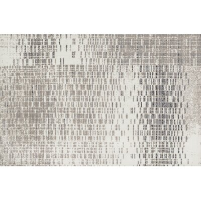 Wilde Ivory/Light Gray Area Rug Rug Size: Rectangle 5 x 76