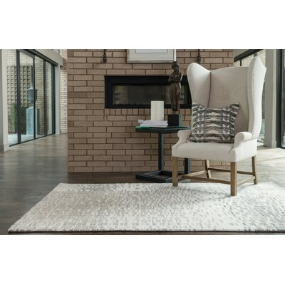Discover Ivory/Light Gray Area Rug Rug Size: 76 x 96
