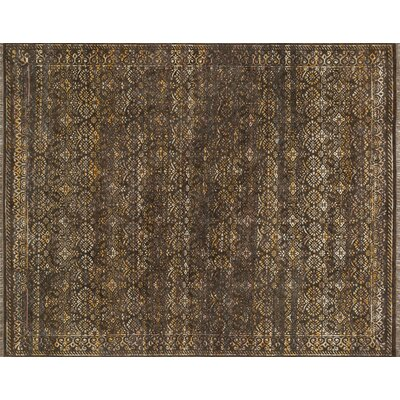 Ashton Hand-Knotted Brown Area Rug Rug Size: 86 x 116