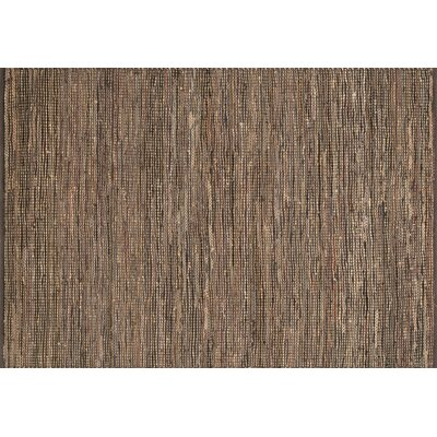 Edge Hand-Woven Brown Area Rug Rug Size: 79 x 99