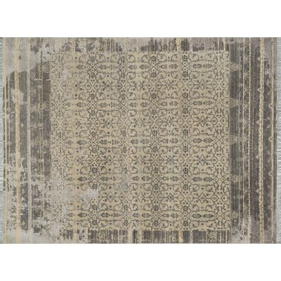 Ashton Hand-Knotted Slate/Silver Area Rug Rug Size: Rectangle 56 x 86