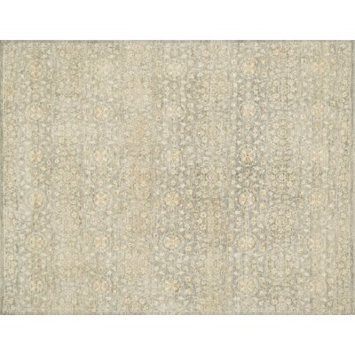 Claussen Hand-Woven Limestone Area Rug Rug Size: Rectangle 12 x 15