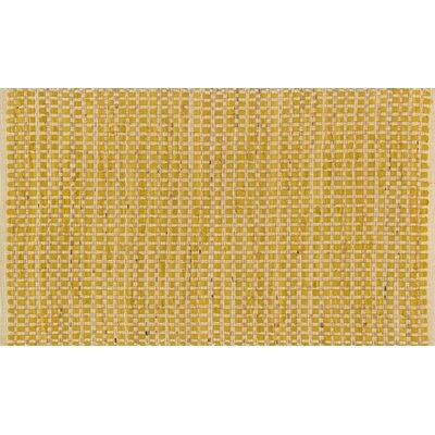 Porto Hand-Woven Yellow Area Rug Rug Size: 23 x 39