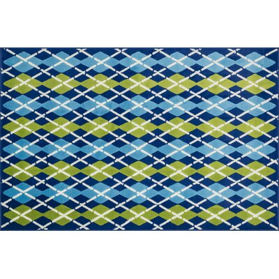 Dueling Diamonds Blue Rug Rug Size: 2'7