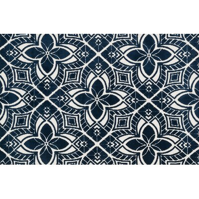 Cassidy Ivory/Navy Area Rug Rug Size: Rectangle 5 x 76