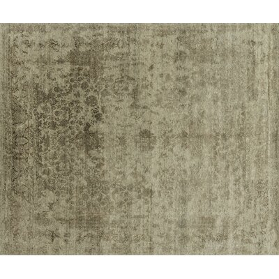 Pearl Hand-Knotted Desert Brown Area Rug Rug Size: Rectangle 79 x 99