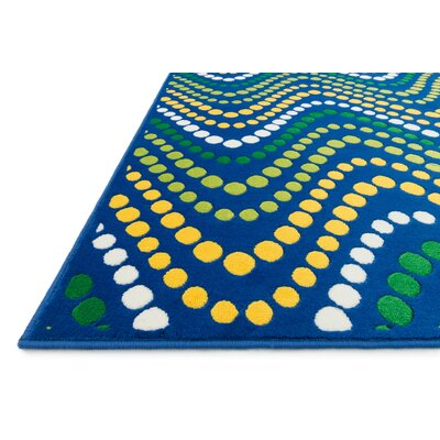 Stacy Dark Blue Area Rug Rug Size: 44 x 67