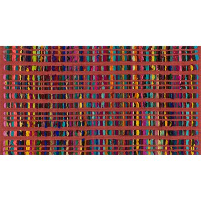 Tyler Hand-Woven Red Area Rug Rug Size: 23 x 39