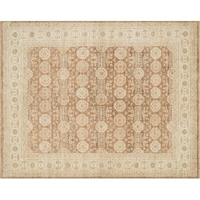 Hassell Hand-Knotted Camel/Beige Area Rug Rug Size: Rectangle 96 x 136