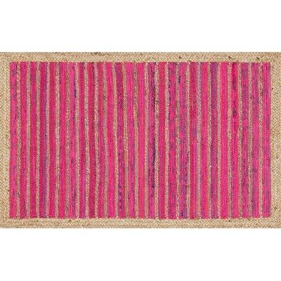 Gavin Hand-Woven Pink Area Rug
