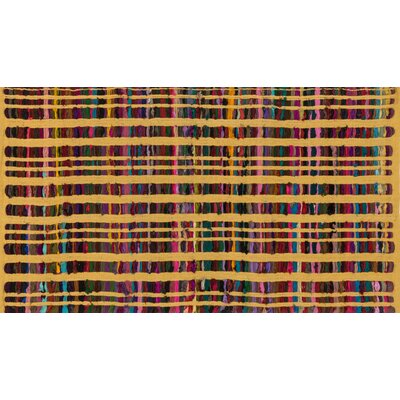 Choate Hand-Woven Yellow Area Rug Rug Size: Rectangle 23 x 39