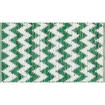 Vivian Green/White Area Rug