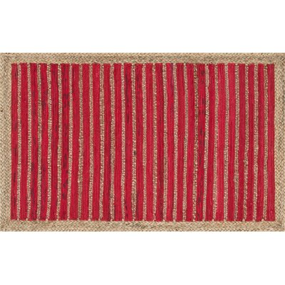 Gavin Hand-Woven Red Area Rug