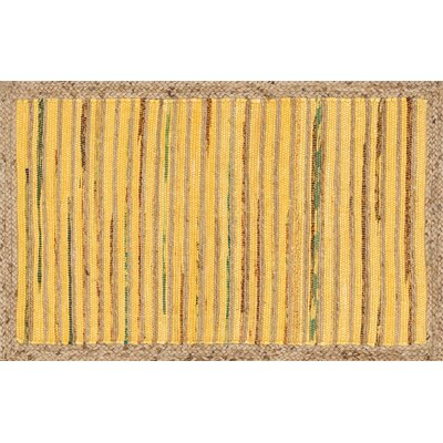 Gavin Hand-Woven Yellow Area Rug