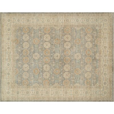 Hassell Hand-Knotted Storm/Beige Area Rug Rug Size: Rectangle 79 x 99