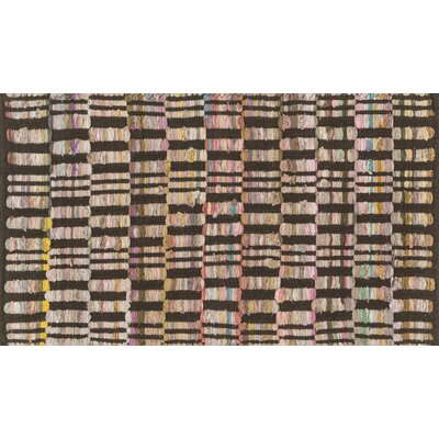 Aiden Hand-Woven Brown Area Rug Rug Size: Rectangle 23 x 39