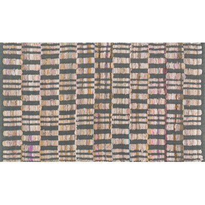 Greenfest Hand-Woven Gray Area Rug Rug Size: Rectangle 18 x 3