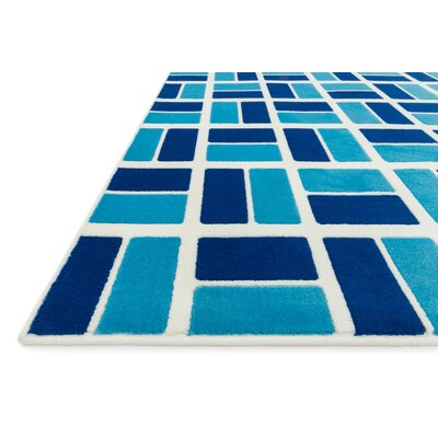 Stacy Blue Area Rug Rug Size: Round 33