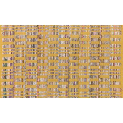Greenfest Hand-Woven Yellow Area Rug Rug Size: Rectangle 18 x 3