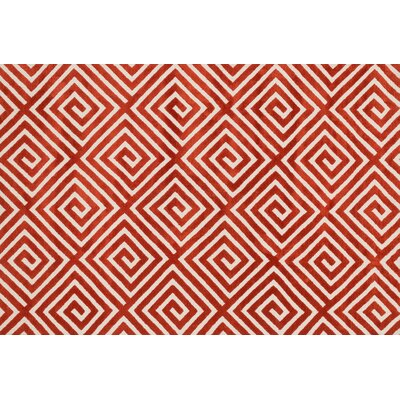 Mazurek Rust Area Rug Rug Size: Rectangle 36 x 56