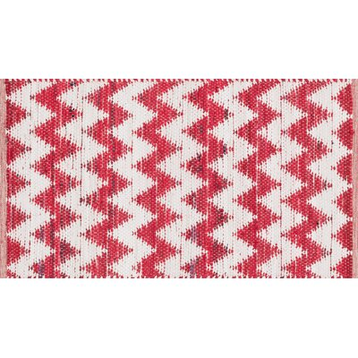 Vivian Red/White Area Rug