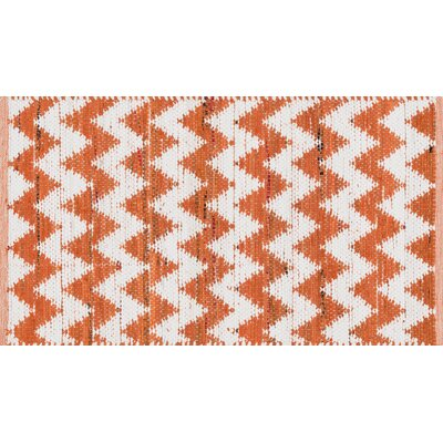 Vivian Orange/White Area Rug