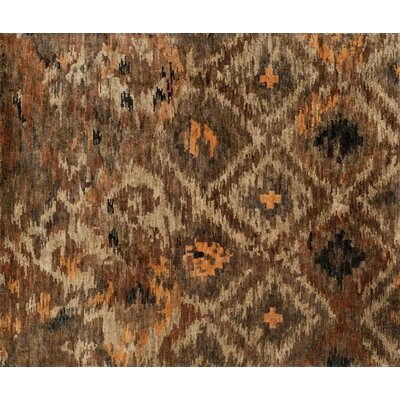 Xavier Rustic Hand-Knotted Brown Area Rug Rug Size: Rectangle 56 x 86
