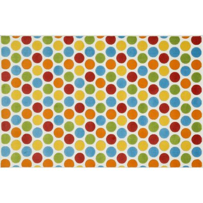 Stacy Blue/Orange/Red Area Rug Rug Size: 27 x 311