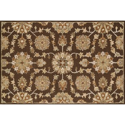 Ashford Hand-Woven Brown Area Rug Rug Size: 76 x 96