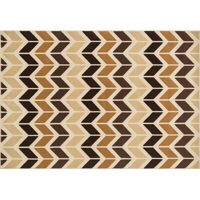 Goodwin Beige/Brown Area Rug Rug Size: 23 x 39