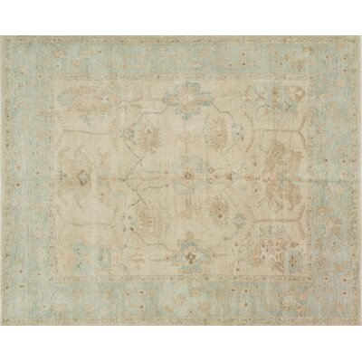 Abelard Hand-Knotted Stone/Mist Area Rug Rug Size: Rectangle 96 x 136
