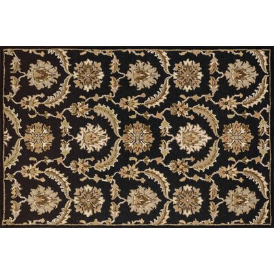 Donata Hand-Woven Black/Brown Area Rug Rug Size: Rectangle 36 x 56