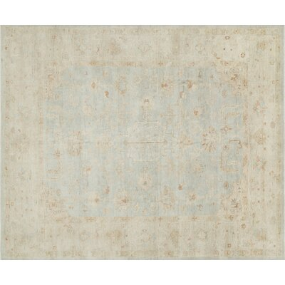 Abelard Hand-Knotted Mist/Stone Area Rug Rug Size: Rectangle 4 x 6