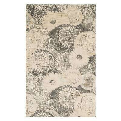 Journey Ivory/Smoke Area Rug Rug Size: 33 x 53