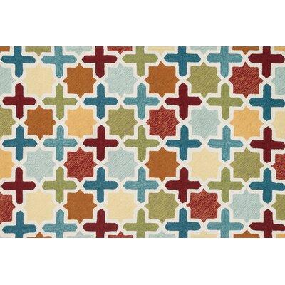 Francesca Hand-Woven Blue/Green Area Rug Rug Size: 36 x 56